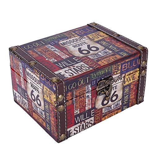 Cofre del tesoro de joyería, caja de almacenamiento, patrones exquisitos, clásico elegante, para cumpleaños de Navidad para anillos para pulseras para collar de pendientes(Carretera 2208A-05-66, azul)