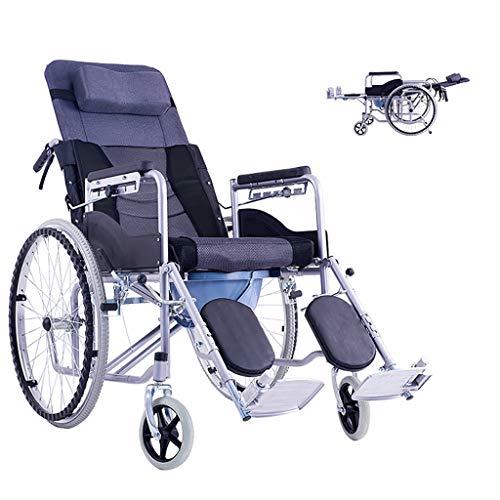 wheelchair Drive Medical Rollstuhl mit voller Rückenlehne, abnehmbare Arme, Sitzvergrößerung, gepolsterte, abnehmbare Arme in Schreibtischlänge - Beinauflage zur Erhöhung