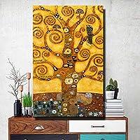 キャンバス絵画生命の木有名なアートポスターとプリントリビングルームの壁アート写真家の装飾アートプリント-40x60cmフレームなし