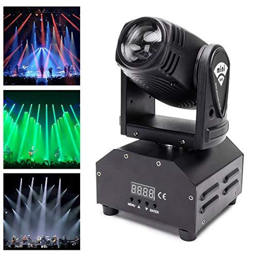 Teste Mobili,UKing LED Beam Stage luci riflettori effetto luce DMX512 Sound Master-Slave per Party Disco DJ Club Show Bar Matrimonio Halloween Natale (1 pezzo)