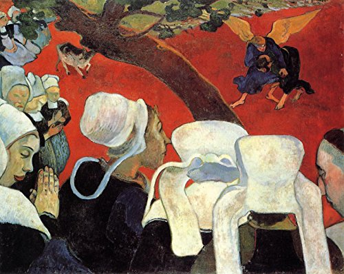 Paul Gauguin - The Vision After The Sermon ~ Jacob Wrestling The Angel - Scottish National Gallery - National Galleries of Scotland 30