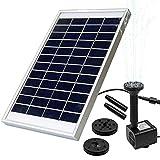 OriFiil Bomba de Agua Solar,5W Pump Solar de la Fuente para Estanque, Pozo, Jardín, Piscina,Flujo máximo 380L / h