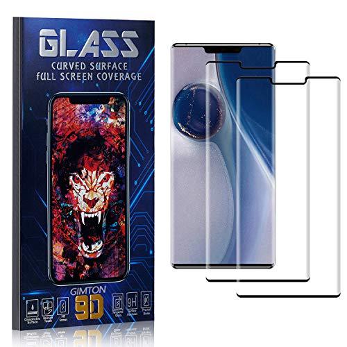 GIMTON Displayschutzfolie für Huawei Mate 30 Pro, 3D Touch, Anti Kratzen, Keine Luftblasen Premium Displayschutz Schutzfolie für Huawei Mate 30 Pro, 2 Stück