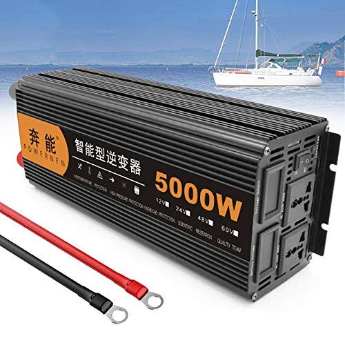 Inversores 12V a 220V 230V 240V, 3200W 4000W 5000W 6000W 8000W 9000W 12000W 15000W 12V Inversor de energía de onda sinusoidal pura Salida de 230V CA, con puerto USB - para cualquier vehículo, barco, 5