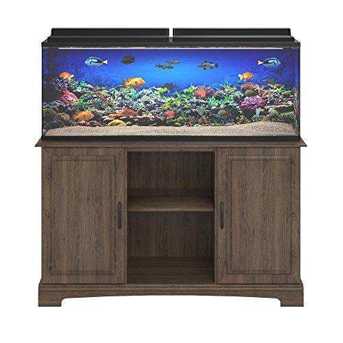 Ameriwood Home Harbor 50 - 75 Gallon Aquarium Stand, Rustic Oak