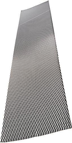 AUTOSTYLE Renngitter Aluminium schwarz - Wabendesign 12x6mm - 125x25cm