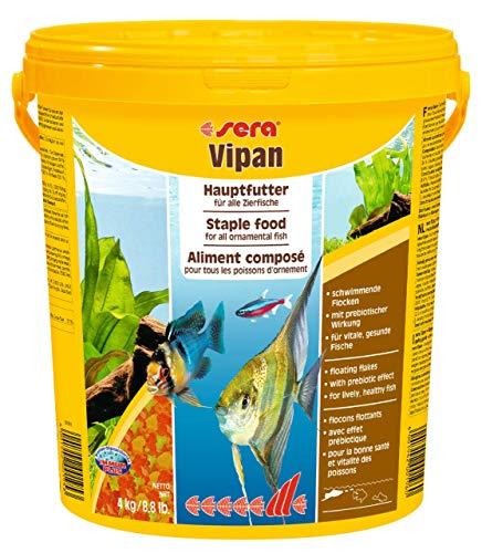 Sera Vipan visvoer met prebiotica verbetert de voederrecycling, zodat minder waterbelasting en minder algen, de klassieker, vlokkenvoeding voor alle siervissen in het aquarium, 20 l
