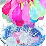 222 Stück Wasserbomben luftballons,Water balloons,222 Wasserbomben in 60 Sekunden,selbst verschließend ohne Knoten,6 Bündel mit je 37 Wasserbomben