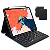 Maxace iPad Pro 11 Keyboard Case for iPad Pro 11 2020, Supports 2nd Gen Pencil Charging, Smart Bluetooth Wireless Keyboard Cover with Auto Sleep Wake, Waterproof iPad Pro 11 Keyboard Case
