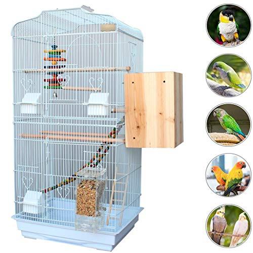 YHRJ Vogel voliere Vogelkäfig Wellensittiche Groß,Großer Vogelkäfig, Haushalts-Wellensittichkäfig, Taubenliebesvogel-Perlenvogel, 4 Arten Von Paketen (Color : White B)