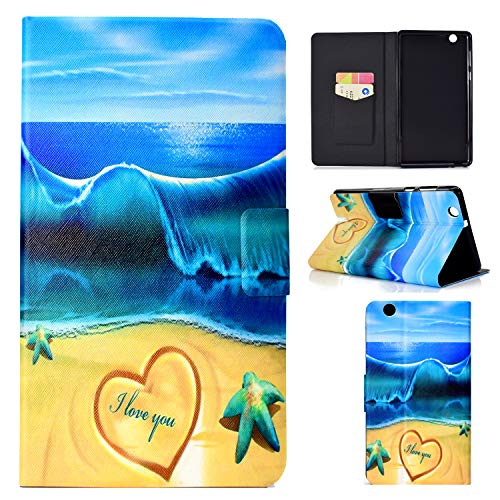 WindTeco Huawei Mediapad T3 7 3G Cover (BG2-U01), Folio Custodia in Pelle PU con Supporto Only per Huawei MediaPad T3 7.0 3G Tablet, Not per Huawei MediaPad T3 7.0 WiFi (BG2-W09), Blue Beach