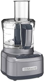 Cuisinart FP-8GMFR 8 Cup Food Processor, Gunmetal (Renewed)