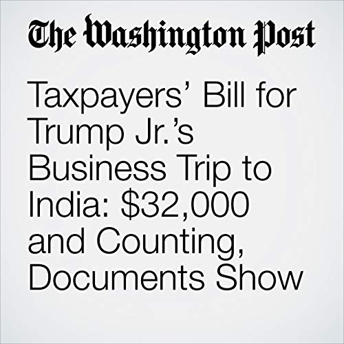 Taxpayers' Bill for Trump Jr.'s Business Trip to India: $32,000 and Counting, Documents Show copertina