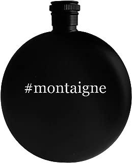 #montaigne - 5oz Hashtag Round Alcohol Drinking Flask, Black