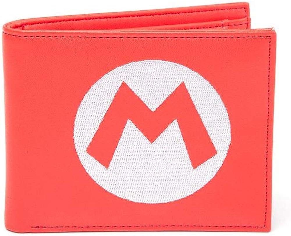 Bioworld nintendo, portafoglio, porta carte di credito, portamonete, in pelle sintetica BIO-MQ2S13SMS