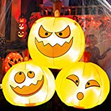 LOOHUU 5FT Halloween Inflatable Pumpkins Lighted Holiday Blow up Party Decorations for Indoor Outdoor Yard Lawn Garden Photo Prop
