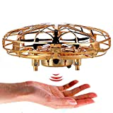 QOONESTL Rich Levitation UFO Drone,Gravity Defying Hand-Controlled Suspension Helicopter Toy,UFO Flying Ball Toys,Infrared Induction Interactive Drone Indoor Flyer Toys USB Charging(6x11cm)