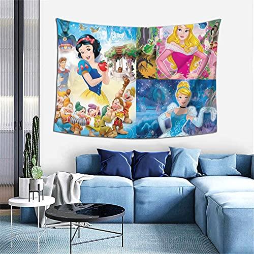 Tapiz de princesa Disney para colgar en la pared, tela de poliéster natural, decoración del hogar, decoración del hogar, dormitorio, sala de estar, decoración de fiesta Trippy manta grande