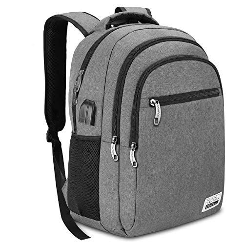 YAMTION Laptop Rucksack Herren Rucksack Schulrucksack mit USB-Ladeanschluss und 17,3 Zoll Laptopfach für Schule Arbeit Reise,45L