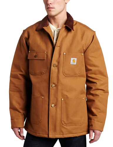 Carhartt Men's Duck Chore Coat Blanket Lined C001,Brown,X-Large