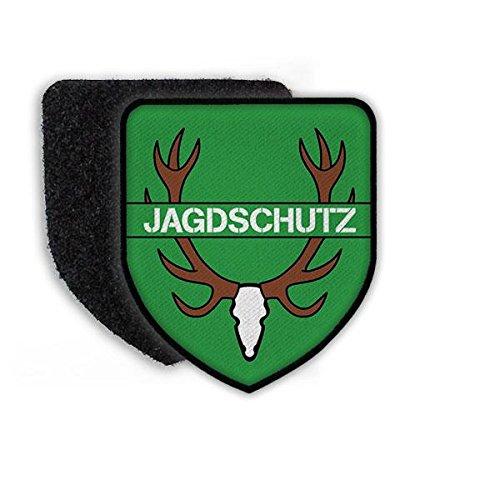 Copytec Patch Jagdschutz Förster Jäger Revier Aufnäher Wappen Abzeichen Wald Jagd Aufseher Geweih REH Hirsch grün #21489