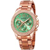 Burgi Women's Swarovski Crystal Accents Watch -...