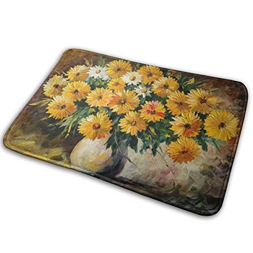 Odelia Palmer Felpudos 1 Flower Art Esteras al Aire Libre únicas 23.6 'x15.7'