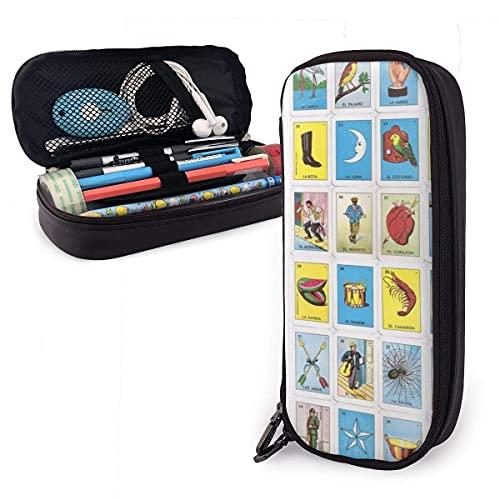 Estuche de lápiz duradero de gran capacidad, para oficina, escuela, viaje, gran bolsa de almacenamiento, caja organizadora de papelería, bolsa de maquillaje con doble cremallera