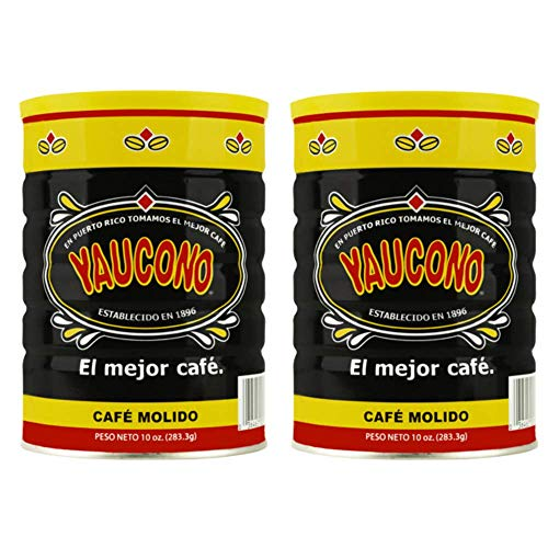 Yaucono Ground Coffee Canister, 10 Ounce (Pack of 2)