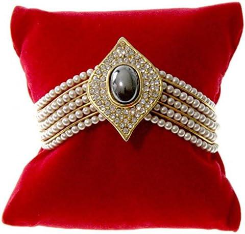 PREMIUM GLOSSY ROSEWOOD Montre Bracelet Oreiller Cadeau Bijoux Boîte De Présentation