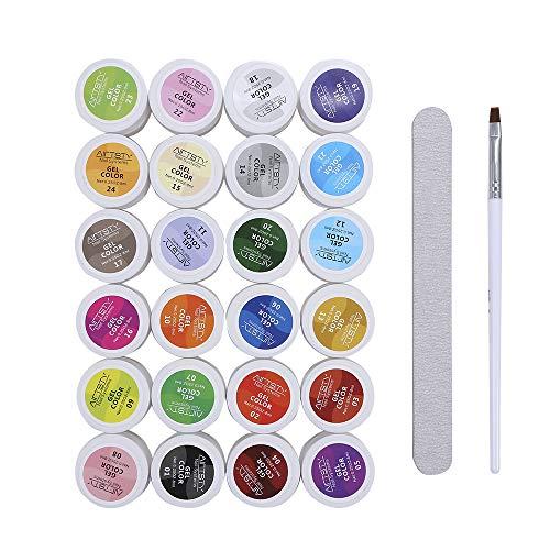 Gel colorati UV, Anself 5ml 30 Colori Moda Donna Fototerapia Colla per unghie Lampada UV/Led Kit di strumenti per smalto gel per unghie