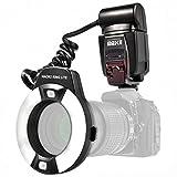 Impulsfoto Meike MK-14EXT TTL - Flash de anillo para cámaras réflex digitales Canon con zapata de flash (para objetivos de 52 mm a 77 mm)