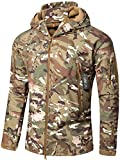 CAMO COLL Men's Outdoor Soft Shell Hooded Tactical Jacket,