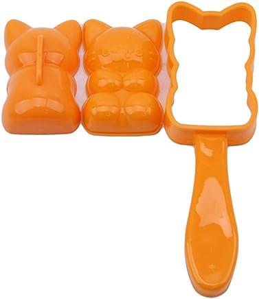 Preisvergleich für Bigsweety 2 Stücke Katze Form Reisform Set Sushi Maker Mold Diy Embossers Bento Küche Werkzeug Zubehör