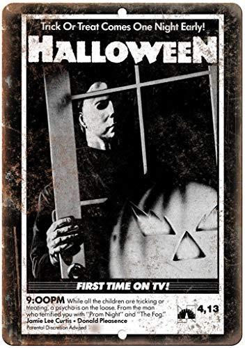 Modtory Blechschild, Halloween-Film, 20 x 30 cm