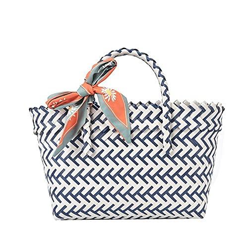 QPYYBR Bolso femenino de moda coreana bolso femenino pequeño lazo de cinta de moda fresca gran capacidad marea cesta de verduras bolsos cruzados para mujeres A29