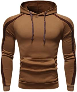 Men Hoodies Pullover Fashion Workout Sweatshirts Plus Size Hood Solid Sweater Tops