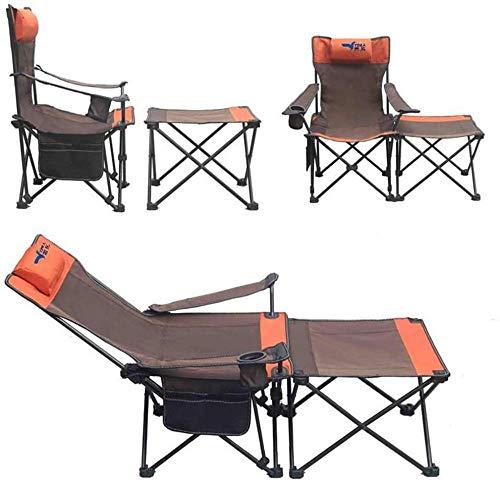 Chaise de camping portable - Chaises de randonnée pliantes ultralégères compactes Petite chaise pliante pliable pliable et pliable dans un sac pour la randonnée de pique-nique en plein air-Orange A