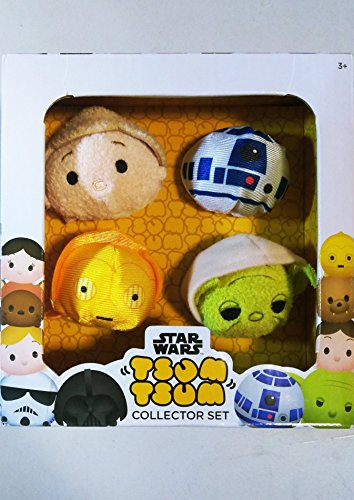 Disney Star Wars 4-pk collection set with Luke, C-3PO, R2-D2 and Yoda