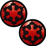 2 Pack IR Infrared Reflective Jedi Order Logo Patch - Jedi Knight Star War Imperial Galactic Empire Patches - Hook and Loop Fastener Tactical Military Morale Appliques Emblem Badges