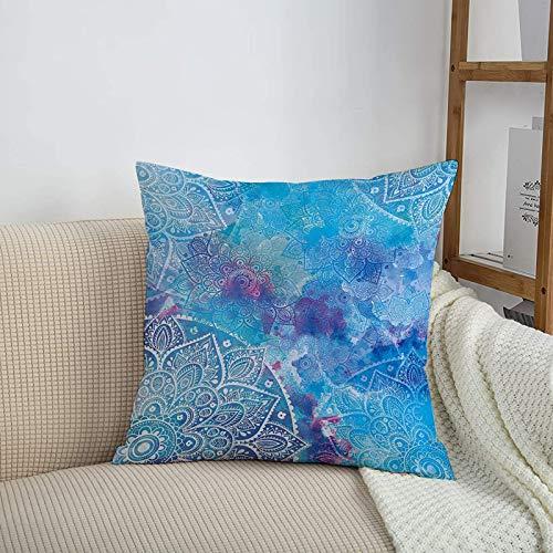 Fundas de cojines sencillas y clásicas de 45 x 45 cm,Ative Art, Paisley Floral Embroidery Batik White Lace Mand,ideales para casa, oficina o para la espalda en el coche - Fundas de Poliéster para sofá