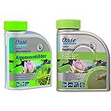 OASE 43137 AquaActiv AlGo Universal Algenvernichter 500 ml - effektiver Algenentferner für Gartenteich ideal gegen Algen Fadenalgen Schwebealgen Schmieralgen & Wasserklärer AquaActiv PondClear, 500ml