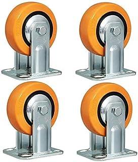 TCWDX X4 zwenkwielen wielen - met remmen, polyurethaan wielen (4/5/6/8/in) Industriële Heavy Duty wielen, enkelwiellagende...
