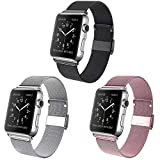 Valband Magnetic Bands Compatible for Apple Watch Band 38mm 40mm 42mm 44mm, Stainless Steel Mesh Wristband Sport Loop for iWatch Series SE 6/5/4/3/2/1