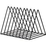 Scrox 1x Revistero Vertical Fabricado en Metal Revistero Decorativo Estantería para Cuarto de baño, Oficina, recibidor (Negro)