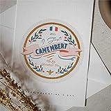 Camembert Pun Cheesy Tarjeta de felicitación para el día de San Valentín con sobres, tarjeta de bendición de 25,4 x 17,8 cm NL168