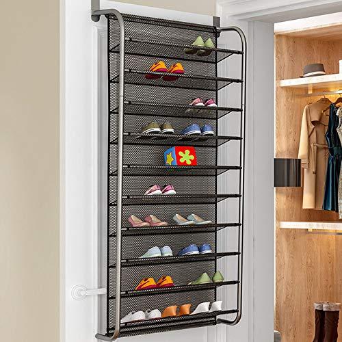 LKU Schoenrek Hangende schoenenrek aan de deur om ruimte te besparen kast schoenenopbergdoos aan de muur gemonteerde roestvrijstalen schoenenhanger