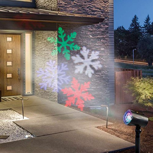 Projecteur de façade Animation Flocons colorés
