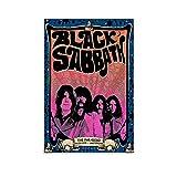 Black Sabbath Poster, dekoratives Gemälde, Leinwand, 20 x
