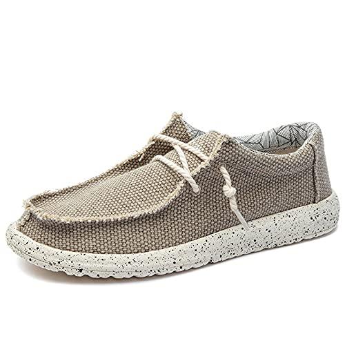 Haoooanfbx Alpargatas Hombre, Zapatos de los hombres zapatos de lona transpirables masculinos casuales,zapatos de los hombres deslizados fáciles de usar alpargatas,zapatos planos para hombres tamaño g